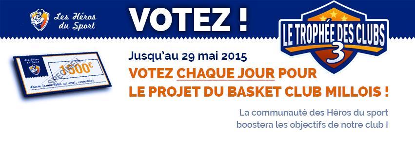 Les Héros du Sport : Votez pour le BCMillois !