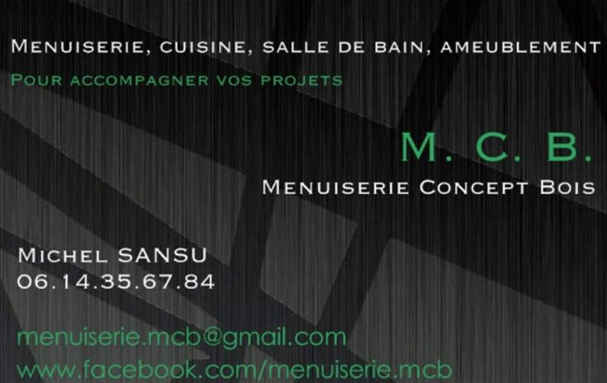 M. C. B. Menuiserie Concept Bois (Carte de visite)